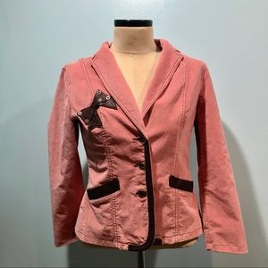 Moschino Jeans Rose Pink Velvet Leather 12